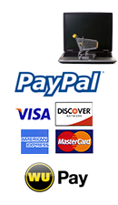 POSGuys.com accepts Paypal, Visa, MasterCard, Discover, American Express, WU Pay payment methods