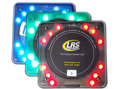 Long Range Systems Coaster Guest Pagers Restaurant Pagers