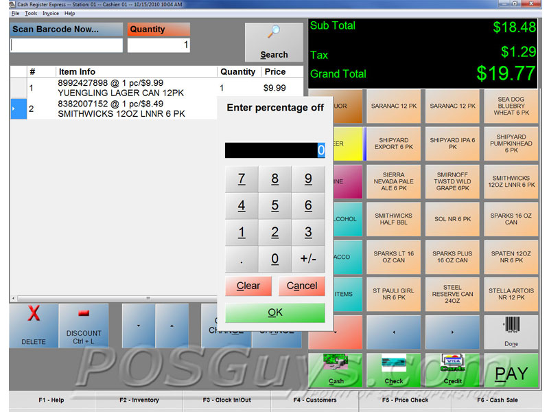 Pc America Cash Register Express Pos Software Posguys Com