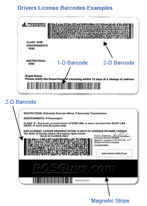 Drivers License Barcodes