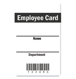 Employee Card Design 1 Photo