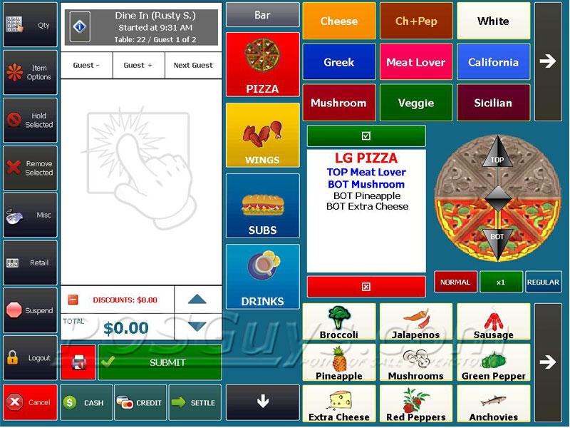 Amigo point of sale v7 pos software for Restaurant builder software