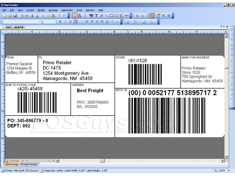 Seagull BarTender Label Creation Barcode Label Software ...