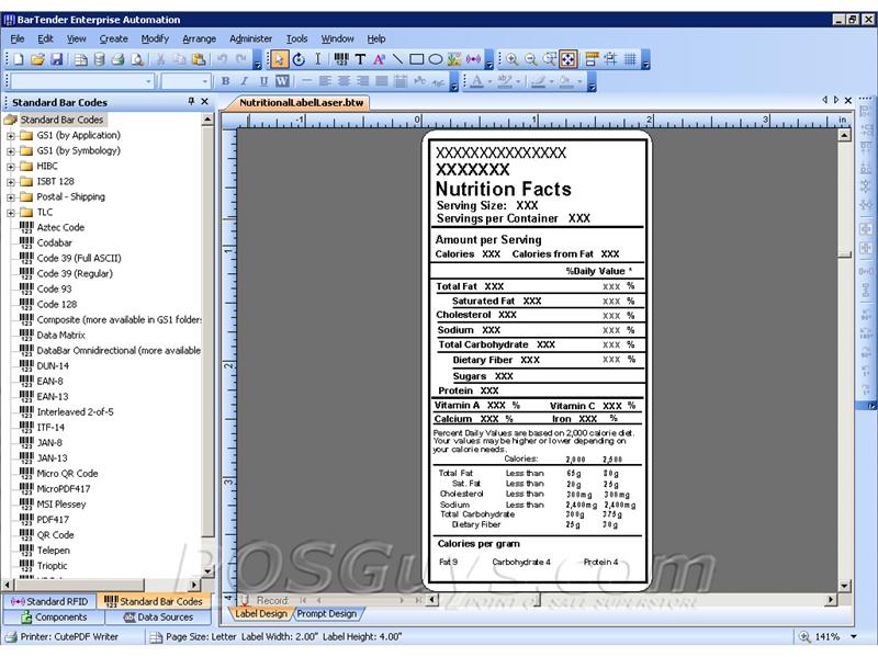 Seagull Bartender Enterprise Automation Barcode Label Software Posguys Com