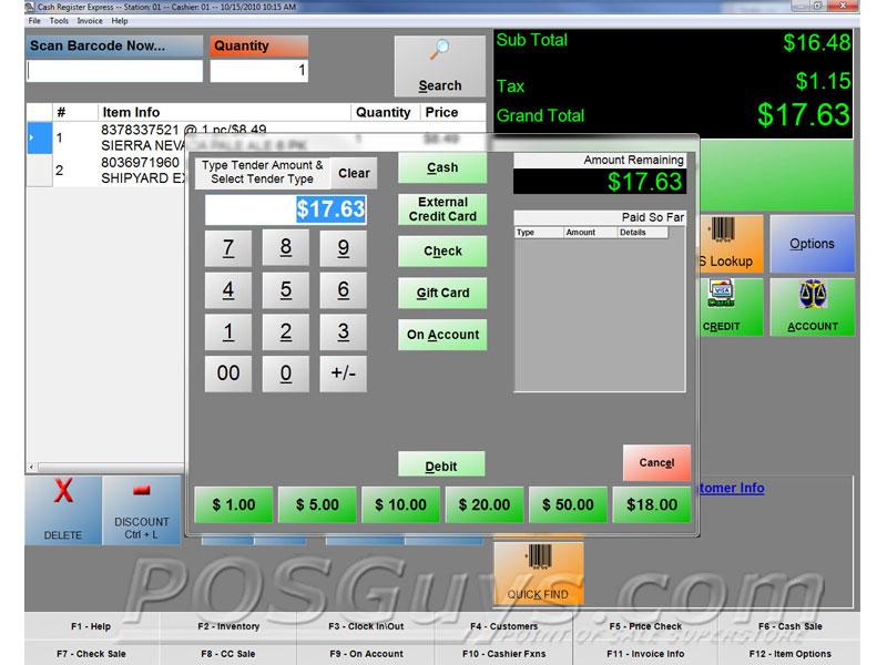 Pc America Cash Register Express Pos Software Posguys Com