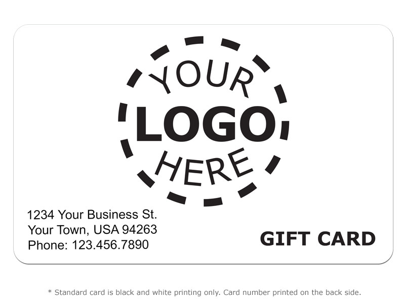 gift card design 8 logo card card printing posguys com