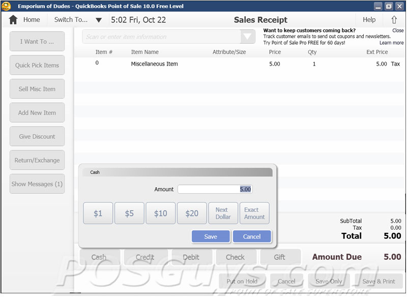 Intuit QuickBooks Point of Sale Basic POS Software | POSGuys com