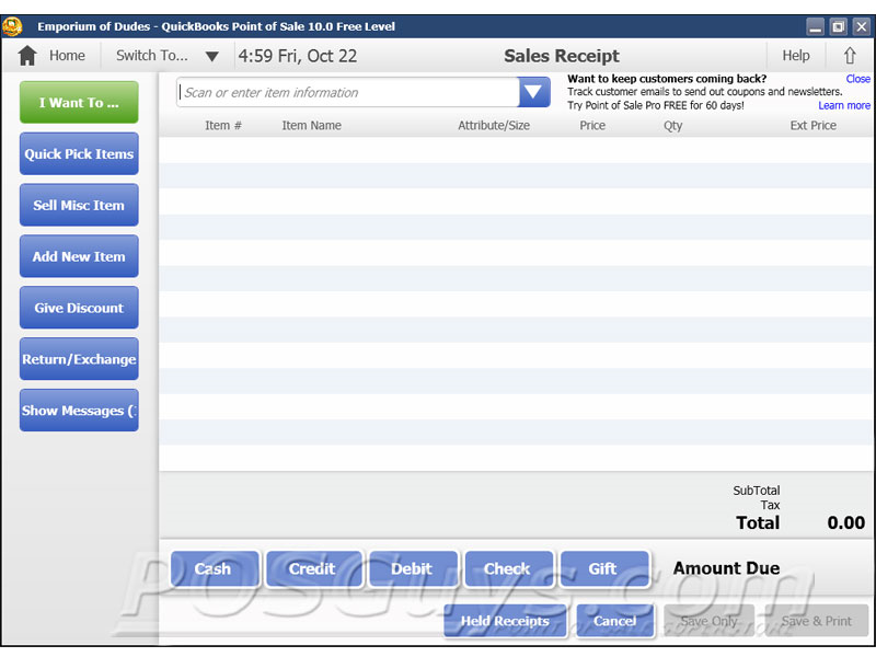 Intuit QuickBooks Point of Sale Pro POS Software | POSGuys com
