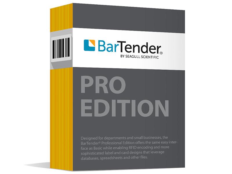 2019 Professional Edition Bartender Software Application License + 10-Printer Licenses