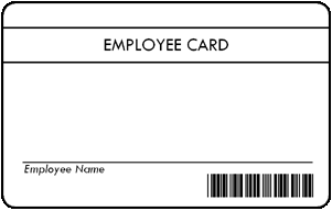 * Pre-Printed Employee Cards product image