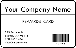 * Pre-Designed Customer Loyalty Cards product image