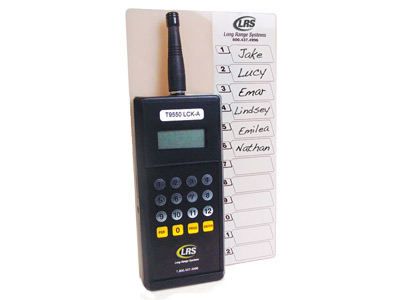 Long Range Systems T9550lck Staff Pager Restaurant Pagers