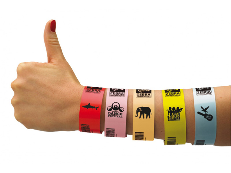 Alternate Image For Wristband Printing Kit Colored Printable Wristbands